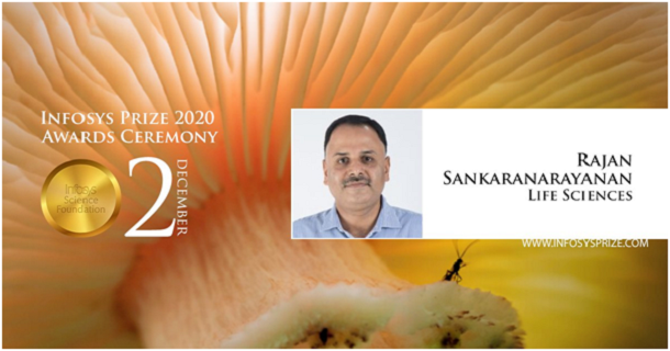 CCMB Scientist, Dr. R Sankaranarayan wins the Infosys Prize for Life Sciences, 2020.