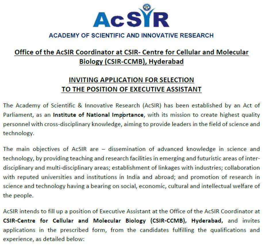 AcSIR - Notification
